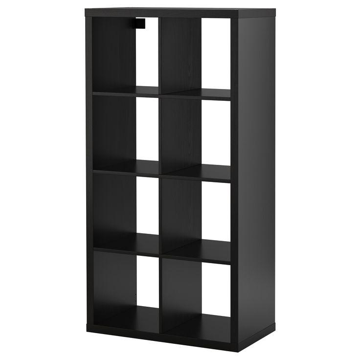 KALLAX Shelving unit - black-brown - IKEA Shelf Options for Bedroom/Workspace  $64.99