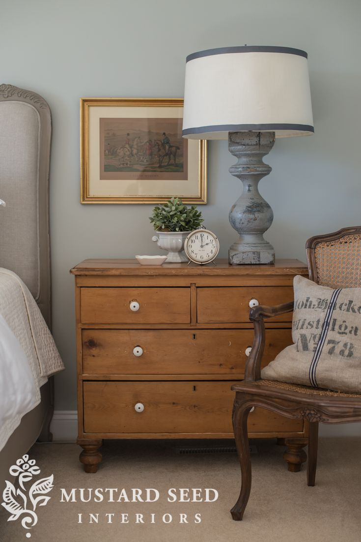 I love the feet on this pine chest. They make it feel more expensive/classic than a skirt.