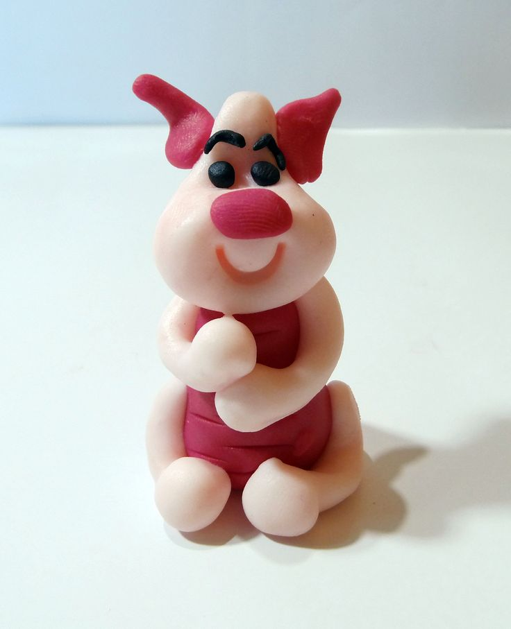 Jak ulepić prosiaczka z modeliny ?  How to do with modeling clay piglet