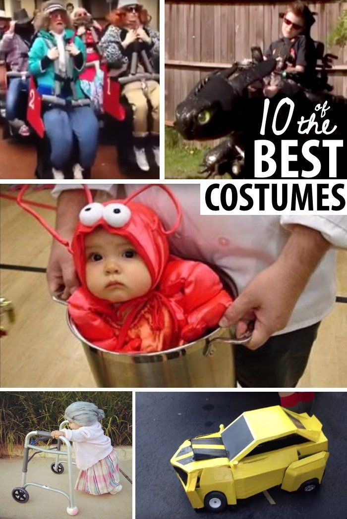 These Win the PRIZE  – Most Original Halloween Costumes in Video. So cute and creative! Use some of these ideas to DIY costumes for your family.