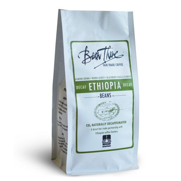 Bean There's Decaf is an Ethiopian Sidamo, naturally decaffeinated using the CO2 method. It displays hints of almond with a buttery body and round acidity.