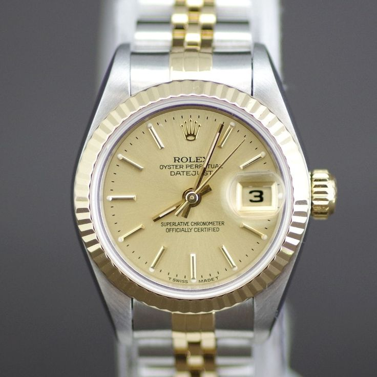 ROLEX 69173 DATEJUST K18YG VESSEL AUTOMATIC WOMAN'S WATCH / This beautiful pre-owned Rolex women's 18k yellow gold and stainless steel Datejust watch is versatile enough to serve as both an everyday timepiece and a dress watch. [Price:¥*******]