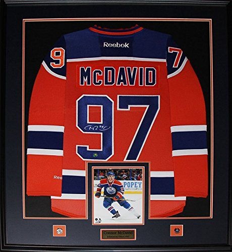 Connor McDavid Edmonton Oilers signed jersey frame *** Continue to the product at the image link.