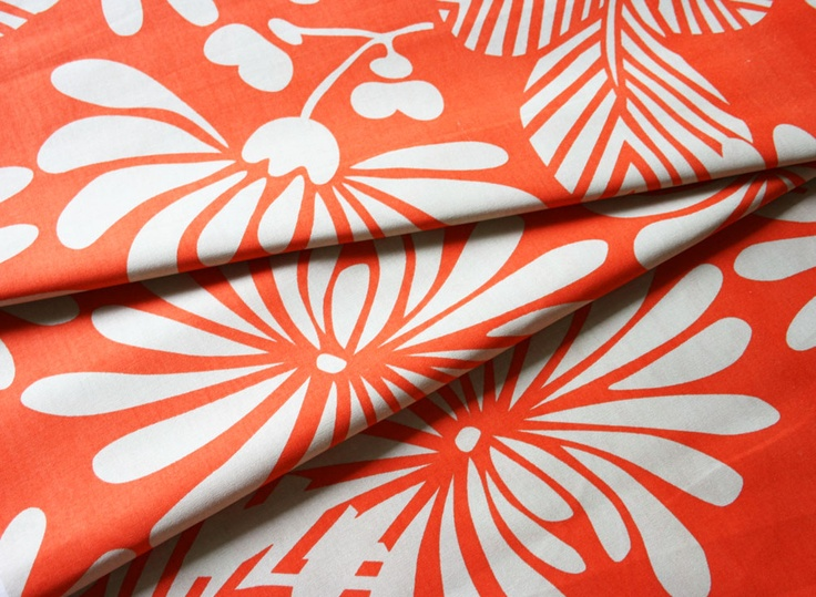 Japanese Floral Orange