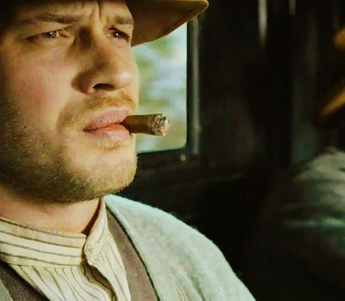Tom Hardy as Forrest Bondurant in Lawless.  Notice TH's placement in the titles - he's getting the recognition he deserves.  Whew - this should be good!