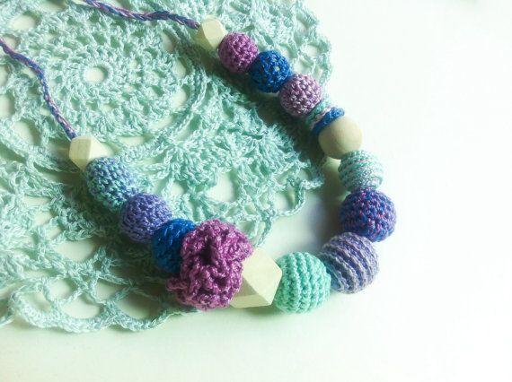 Organic Nursing Necklace eco Teething ToyTrendy от Snorkovna