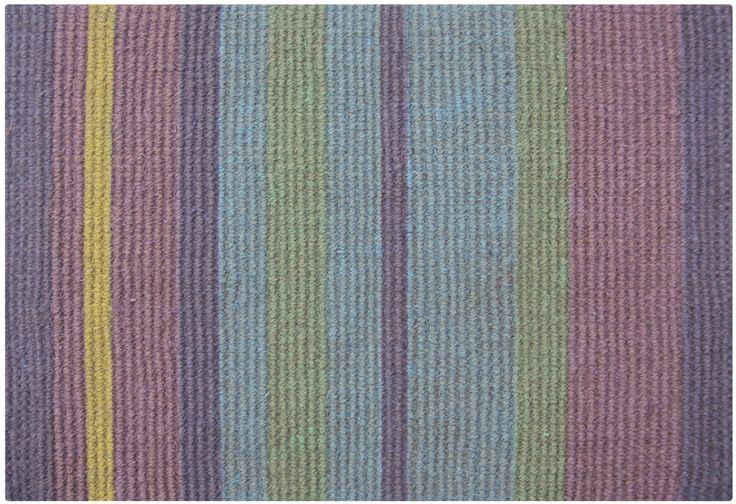 Sea breeze stripe coir rug