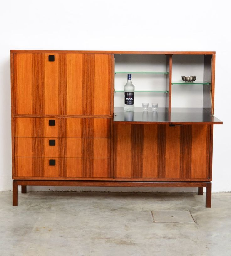Alfred Hendrickx; Wood, Enameled Metal And Formica Cabinet For Belform,  C1965.