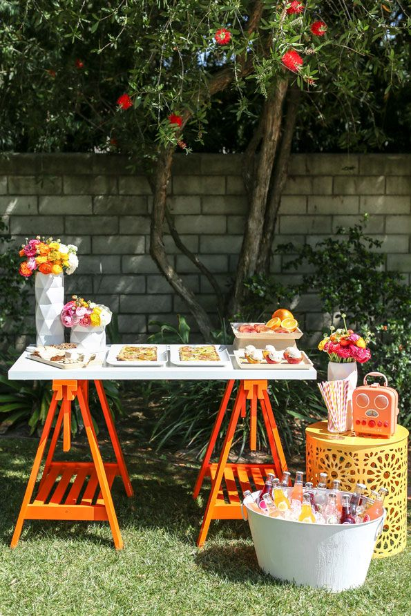 Bring Out Those Bright And Bold Colors Its Time To Celebrate Summer With A Colorful Backyard Bash