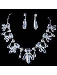 Gorgeous Alloy and Rhinestiones Wedding Jewelry Set,Including Necklace and Earrings (Three Colors)