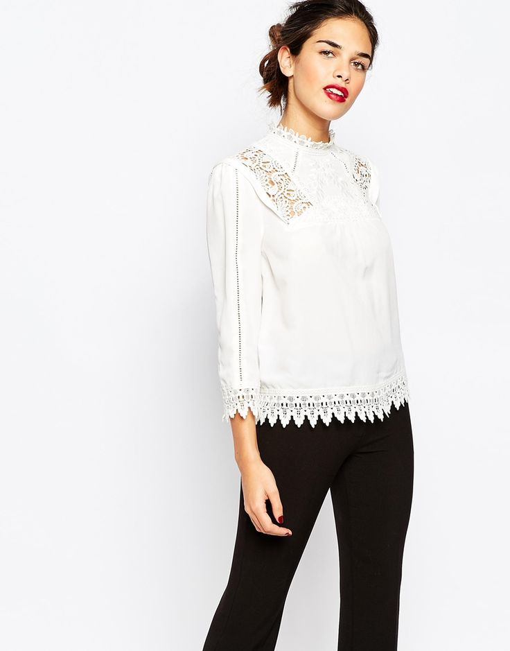 Warehouse Victoriana Lace Blouse