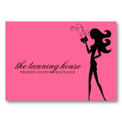 311 Spray Tan Fashionista Silhouette Pink Business Cards