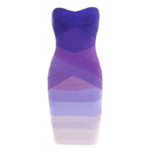 Boat Neck Off the Shoulder Slim Fitted Bandage Dress ($52) ❤ liked on Polyvore featuring dresses, short dresses, purple mini dress, off-shoulder dresses, off shoulder bandage dress and off shoulder mini dress