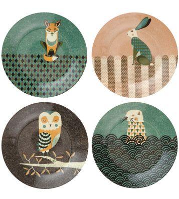 Набор закусочных тарелок Wild Life