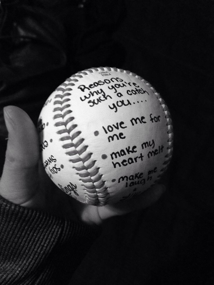 """Cute valentines gift for boyfriend. """"Reasons why you're such a catch you..."""" #boyfriend #baseball #valentines"""