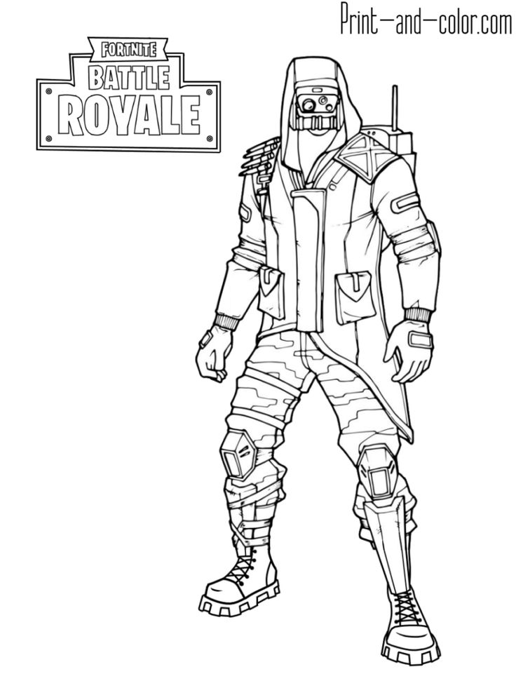 Fortnite Battle Royale Coloring Page Archetype Skin Outfit Fortnite V