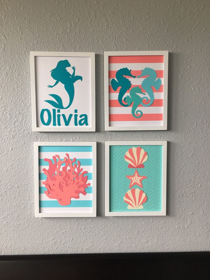 A personal favorite from my Etsy shop https://www.etsy.com/listing/265849072/under-the-sea-mermaid-ocean-nursery-art