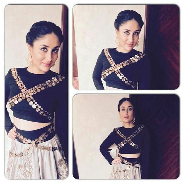 Kareena Kapoor Khan in Designer Anamika Khanna Outfit at Jewellery store launch Actress Kareena Kapoor looked every bit of a Diva in a scintillating Black and