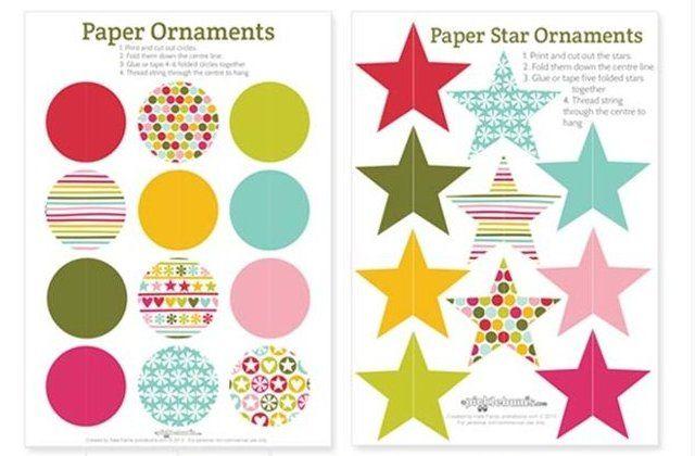 Maak je eigen vrolijke en kleurrijke kerstballen. Leuk voor de kinderen! Met gratis printbare sjablonen!