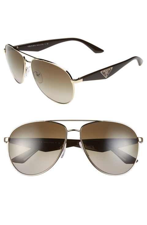 Prada 60mm Aviator Sunglasses