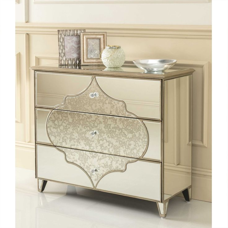 New Amelie Mirrored Hall Chest