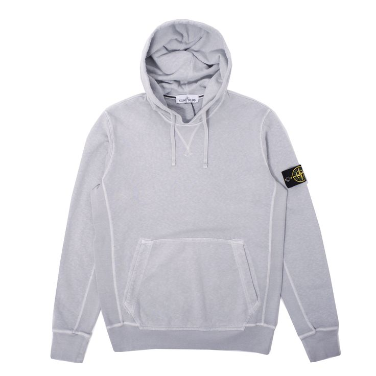 Classic premium brushed cotton Garment Dyed Hooded Sweatshirt from Stone Island. Essential.