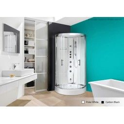 Quadrant Steam Shower Cabin * Chrome Finished Accessories. * Stainless  Steel Monsoon. * Multi