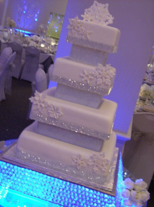 winter snowflake wedding