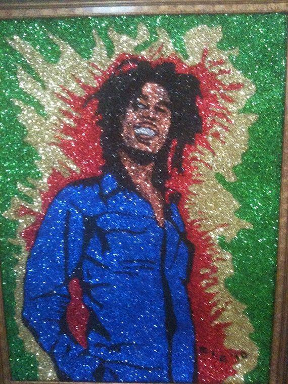 Glitter Art Bob Marley