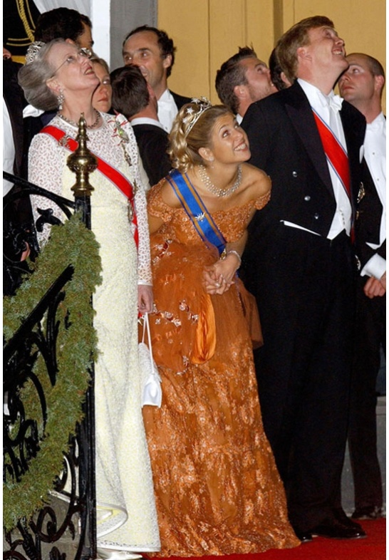Deze Valentino droeg prinses Maxima op de vooravond van haar huwelijk en later op het huwelijk van prinses Martha Louise van Noorwegen.