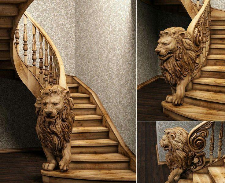 Hand carved stairway by Yura Tikhonovskiy