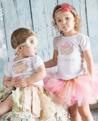 Tea Party Birthday Tutu Outfit With Matching by GigglesandWiggles1