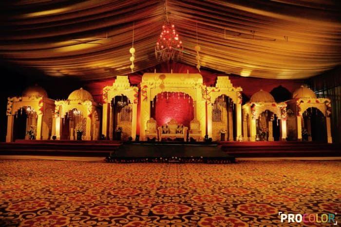 Decoration Ideas - The Wedding Decoration! Photos, Punjabi Culture, Beige Color, Decoration, Stage Decoration, Jhoomer pictures, images, Vendor credits - WeddingPlz