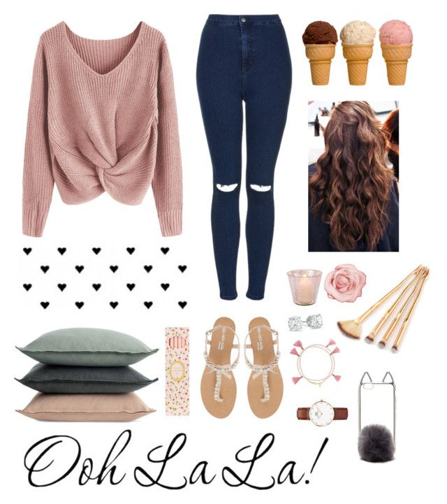 """""""It's my birthday today 🙈👅"""" by ananyasharmad85 on Polyvore featuring Topshop, Head Over Heels by Dune, Forever 21, Daniel Wellington, Design Within Reach and Ladurée"""