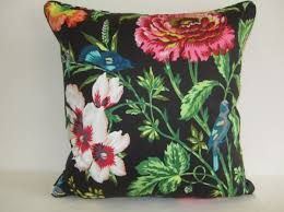 Image result for black floral cushions