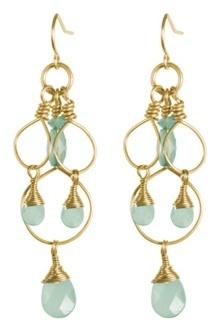 Lovely pale blue earrings!
