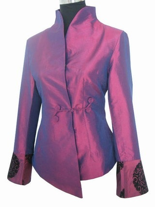 Purple Chinese style Women's Wedding Jacket Coat M,L,XL XXL,XXXL 4XL,5XL