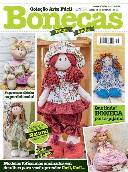 Artesanato - Bonecas : COL ARTE FACIL BONECAS 018 - Editora Minuano