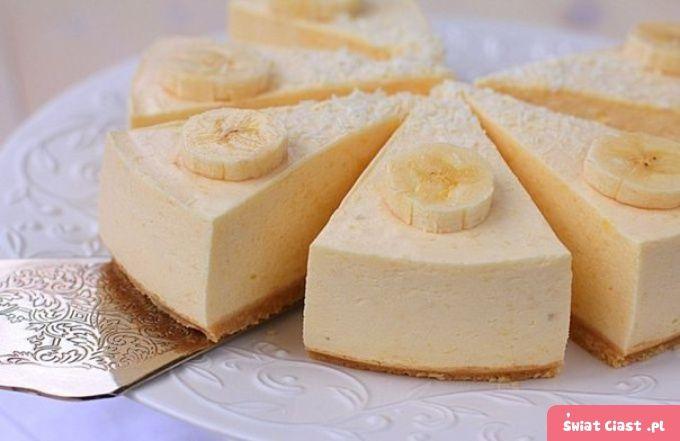 Bananowy sernik - BEZ PIECZENIA
