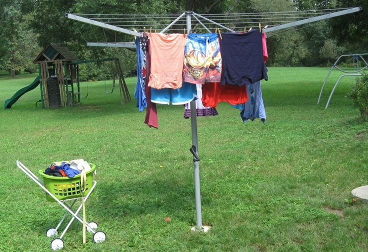 how to fix a rotary clothesline