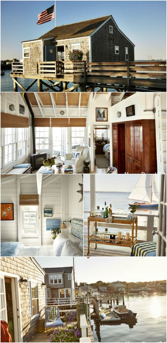 Nantucket Tiny House Captures the Love of Boating on a Beautiful Coastline - Gary Mcbournie is a designer who was contacted about giving new life to a Nantucket cottage originally built around 1900. The owners are passionate about sail boating and have a large house in town, but they wanted this tiny house to be a place they gathered before going out to sail. The end result is gorgeous and simple with the love of boating at the heart of it.