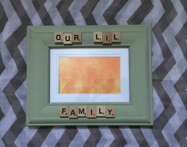 Our Lil Family - Letter Word Scrabble Tile Letters - Frame Display Wall Hanging - Baby - Valentine's Day - Baby Nursery Gifts - Salty AIr by SaltyAirInspirations on Etsy https://www.etsy.com/ca/listing/583884977/our-lil-family-letter-word-scrabble-tile