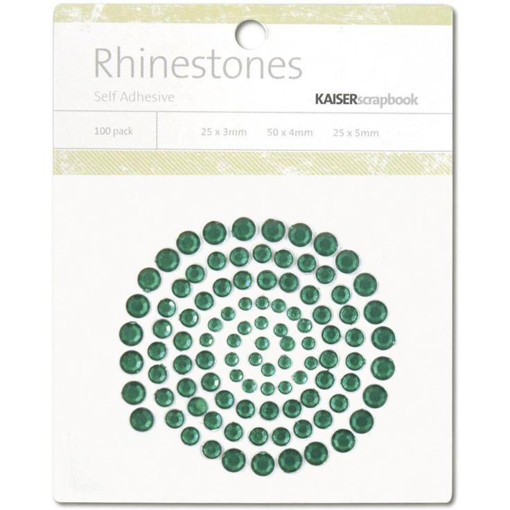 Kaisercraft Rhinestones - Dark Green - Pyssloteket