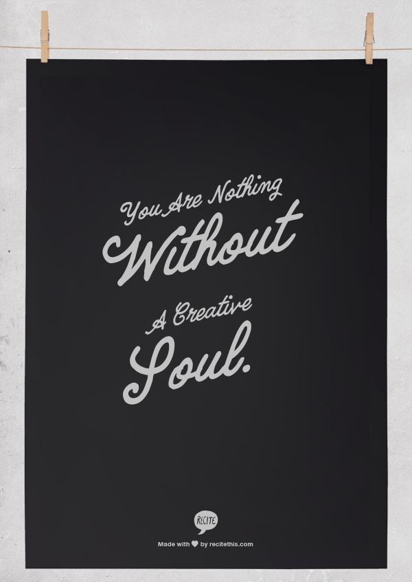 You Are Nothing Without a Creative Soul via chicdeals