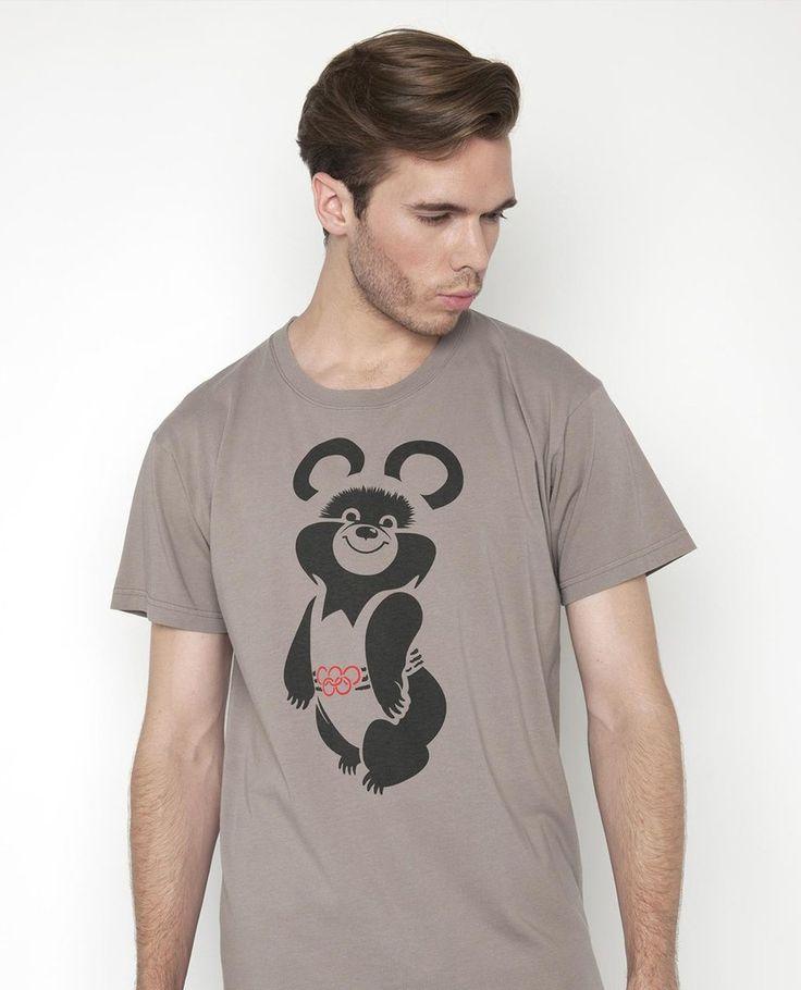 Mishka Street Art Style Russian T-Shirt