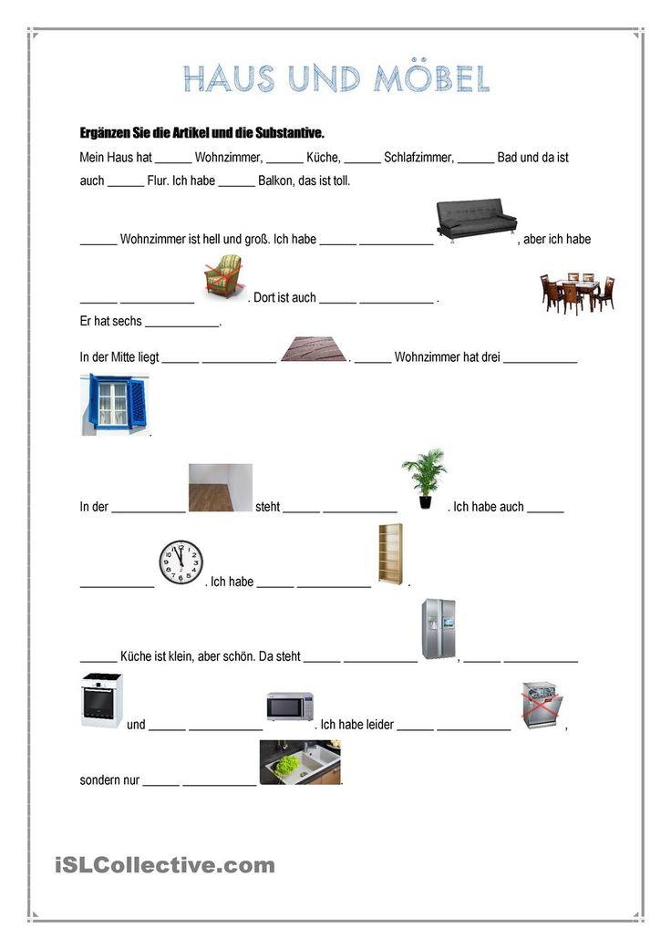 artikel rund um das haus nominativ und akkusativ reiseziele arbeitsbl tter daf. Black Bedroom Furniture Sets. Home Design Ideas