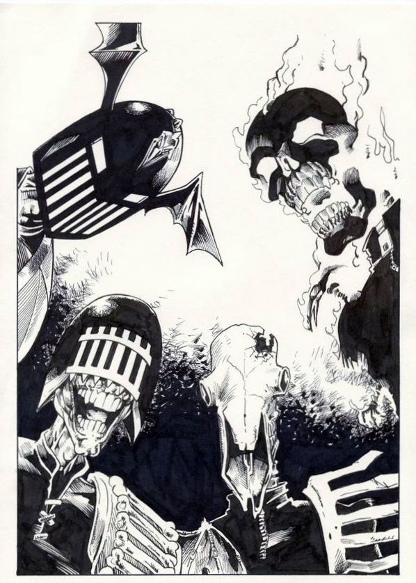 Veteran art droid Ian Gibson, take on the four Dark Judges.