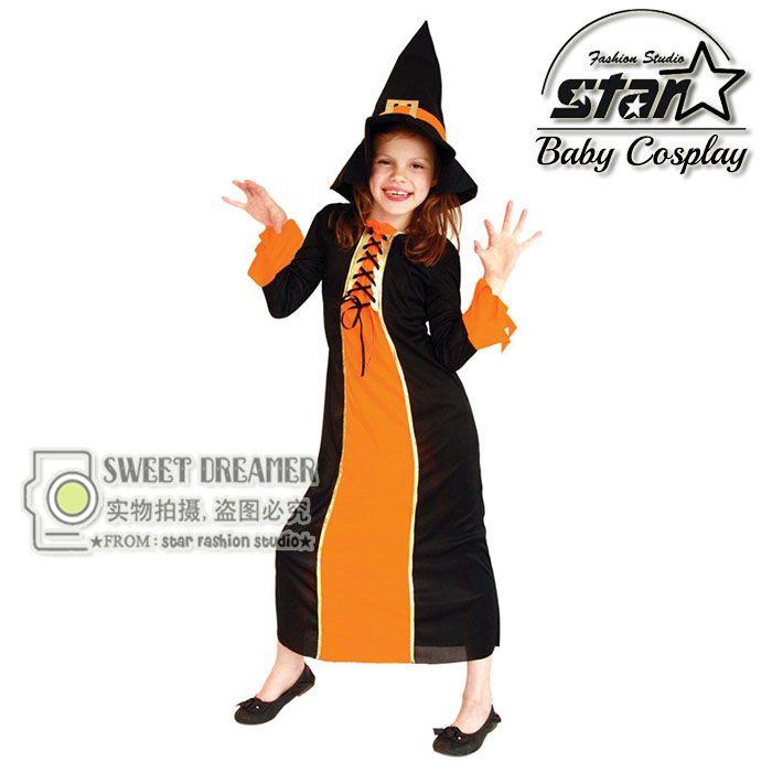 $26.00 (Buy here: https://alitems.com/g/1e8d114494ebda23ff8b16525dc3e8/?i=5&ulp=https%3A%2F%2Fwww.aliexpress.com%2Fitem%2FM-XL-Halloween-Witch-Costumes-for-Children-Girls-Dress-Cosplay-Clothes-for-Girls-Carnival-Costumes-Magician%2F32714990386.html ) M-XL Halloween Witch Costumes for Children Girls Dress Cosplay Clothes for Girls Carnival Costumes Magician Maxi Robe Dress for just $26.00