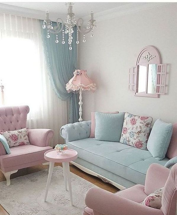 Cozy and Colorful Pastel Living Room Interior Style 28