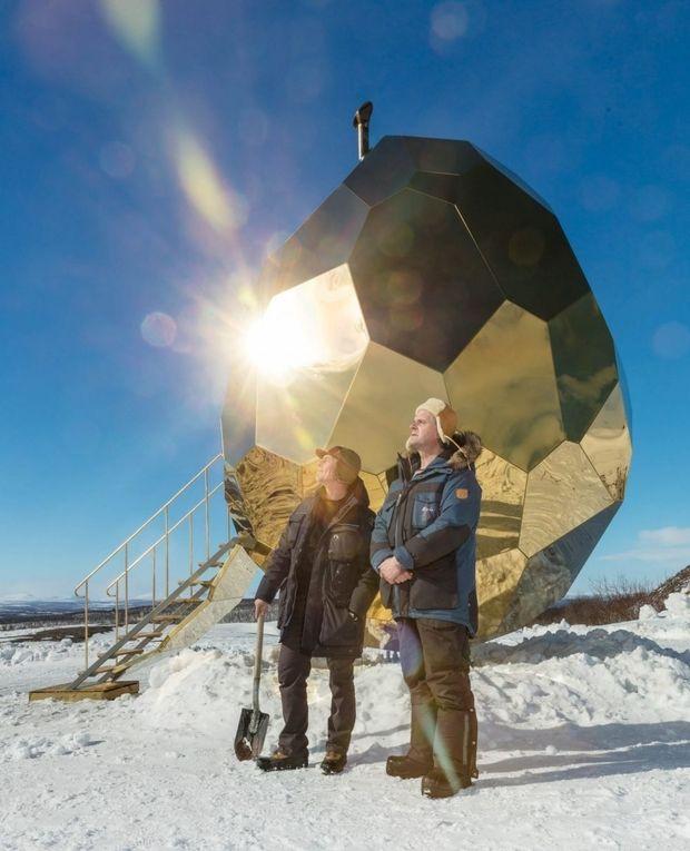 Solar Egg - sauna espelhada na Suécia, criação de Bigert & Bergström